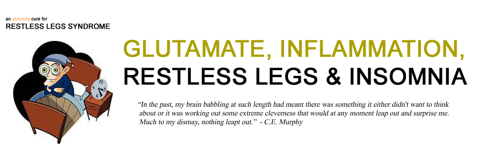 glutamate is part of the cause of restless legs syndrome