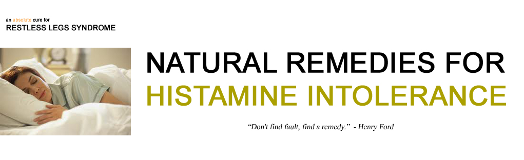 histamine intolerance header for a cure for restless legs syndrome